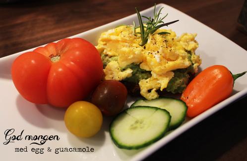 Eggerøre & guacamole- smørbrød