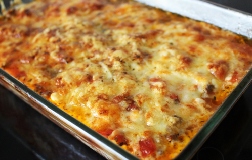 Lasagne med cottage cheese