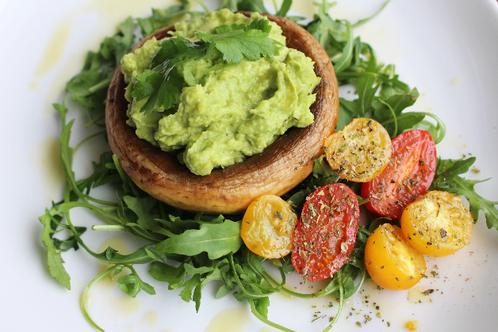 Sopp med avocadofyll
