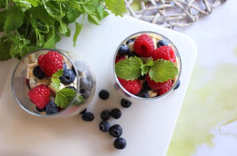 Pavlova i glass