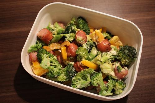 Pølser og brokkoli