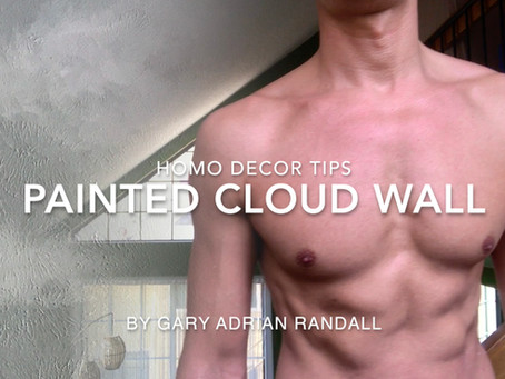 Homo Decor Tips: Painted Cloud Wall