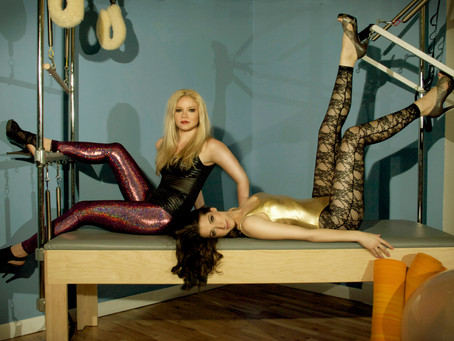 Pilates in Heels: Photoshoot with Bryce Gruber and Ariston Anderson in American Apparel