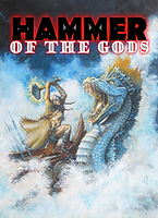 Hammer of the Gods (horror/fantasy book) - Ruthless warriors sail turbulent oceans in search of gold and plunder. Death in battle holds no fears, for should they die they will gain entry into the feasting halls of their savage gods.