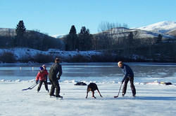 Hockey on the lake