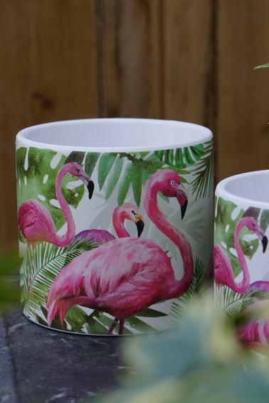 Flamingo Pot Cover