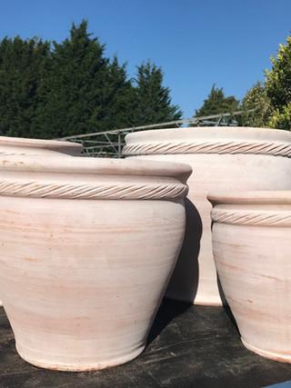 Braided Terracotta Pots