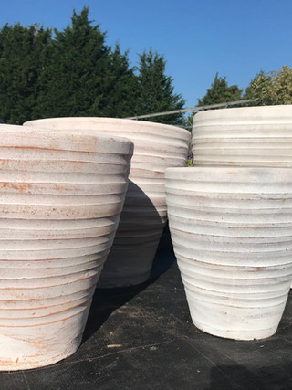 Ribbed Terracotta Pots
