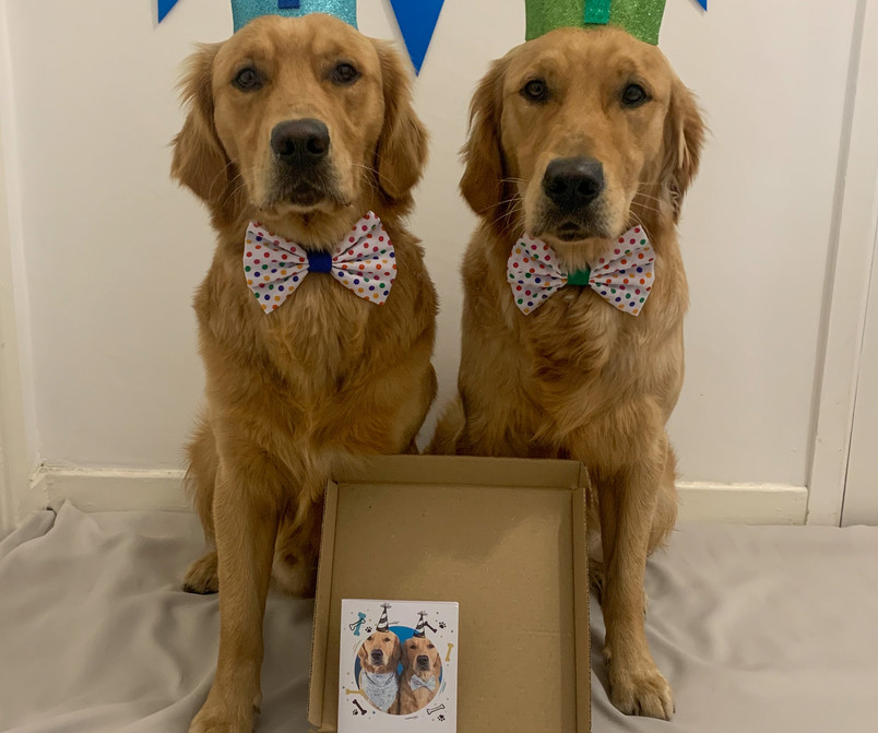 Fred and Roy with their Birthday Box