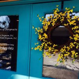 spring wreath on office door.jpg