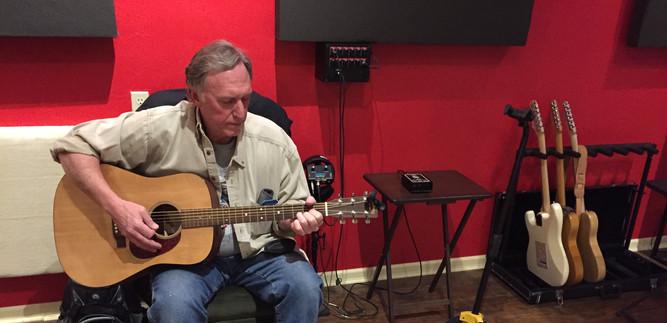 Del at Alexander Recording Studio in Ames