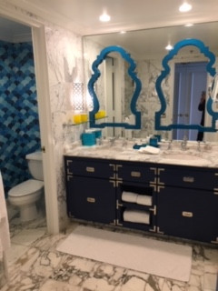 Throw back in time/design by Jonathan Adler at the Eau Palm Beach Hotel FL.