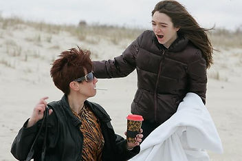 Dina and Christy on Beach.JPG
