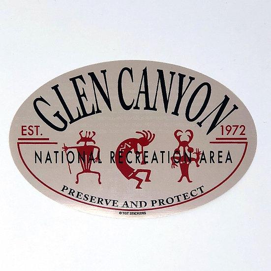 Glen Canyon Petro Oval Sticker