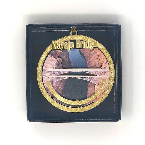 Navajo Bridge Metal Ornament