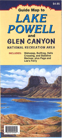 Lake Powell and Glen Canyon NRA Map