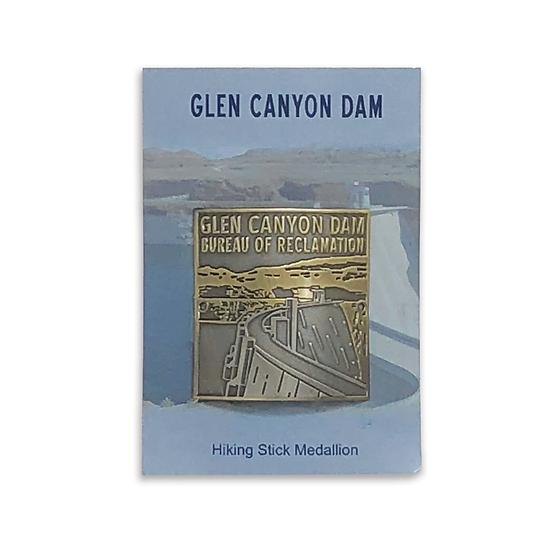 Glen Canyon Dam Hiking Medallion Pewter