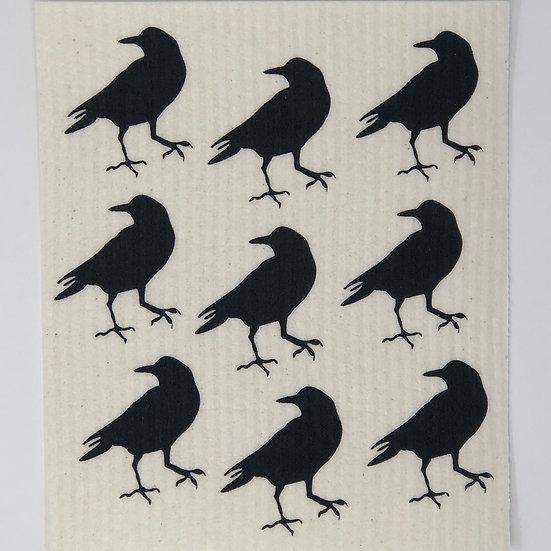 Reusable Swedish Dishcloth Raven