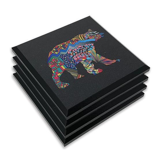 Mosaic Bear Coasters Set of 4