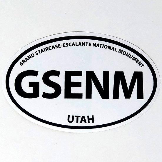 Oval GSENM Acronym Sticker