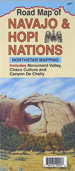 Road Map of Navajo and Hopi Nations