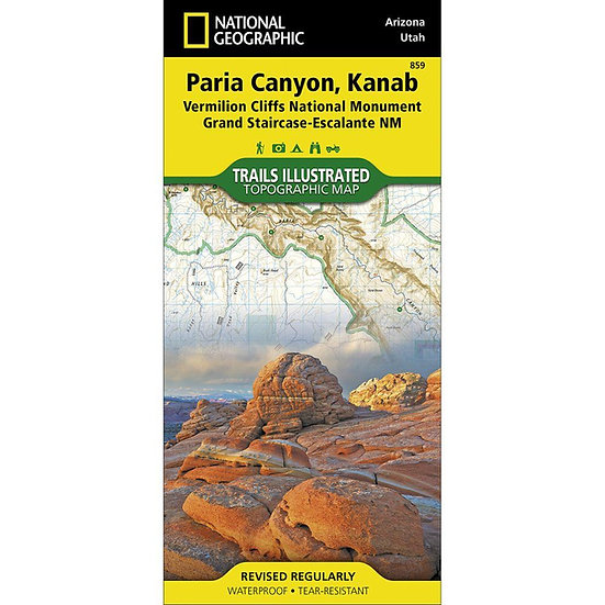 Paria Canyon, Kanab Map