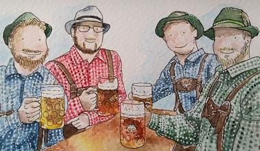 Prost! It's Oktoberfest art