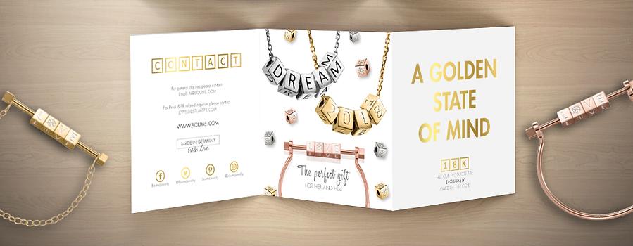 Boume Tri-fold Golden Leaflet