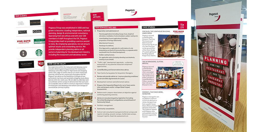 Pegasus Planning for Restaurant Industry leaflet