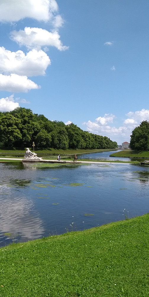 Lake with Statues, Nymphenburg Palace Gardens