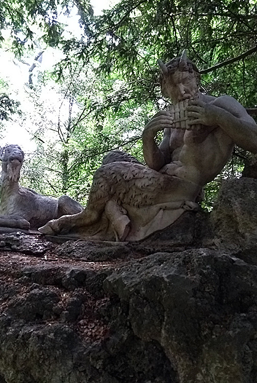 Statues of Pan and Goat, Nymphenburg Palace Gardens