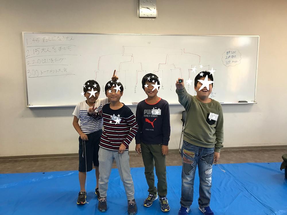 入賞者の4年生たち