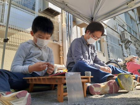 真夏日?!旗の台公園でベーゴマ遊び!4/11
