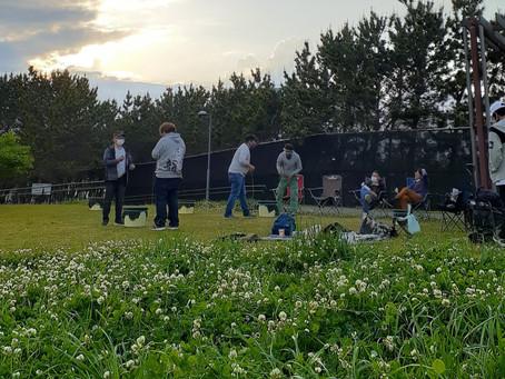 新浦安総合公園でベーゴマ遊び