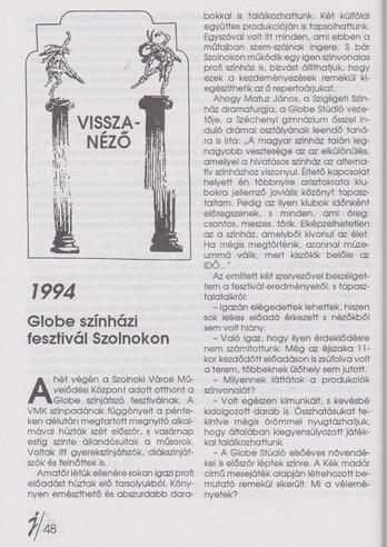 Visszanéző - Globe Fesztivál 94-96