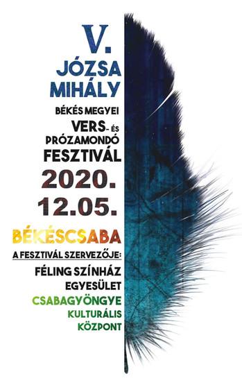 V. Józsa Mihály Békés megyei Vers- és Prózamondó Fesztivál - Felhívás