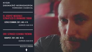Nyári drámaíró workshopok Formanek Csabával