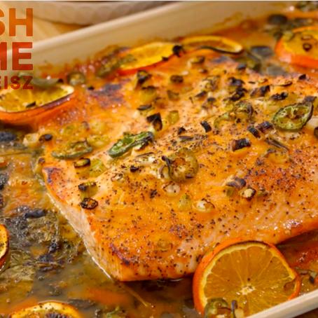 Orange Citrus Salmon for Pesach