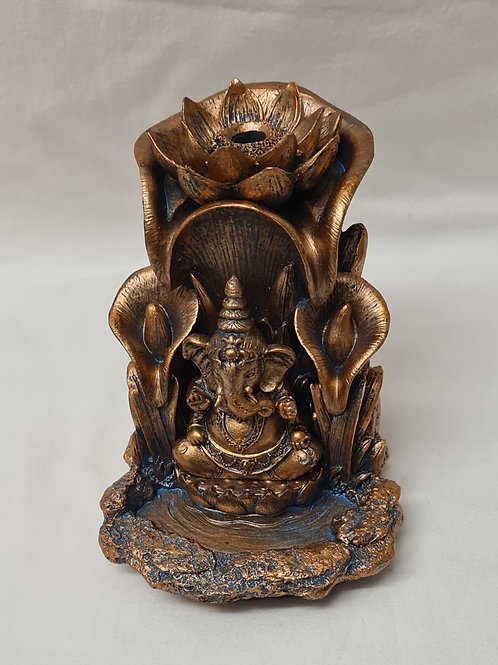 Ganesh Lotus Backflow Incense Burner