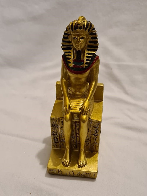 Ramesses the second seated on Hieroglyphic Throne