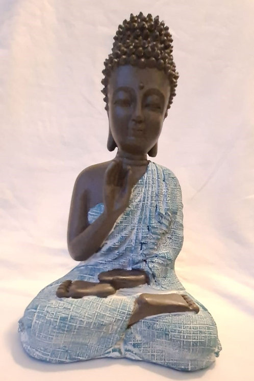 Thai Buddha, Brown, White and Turquoise - Meditation