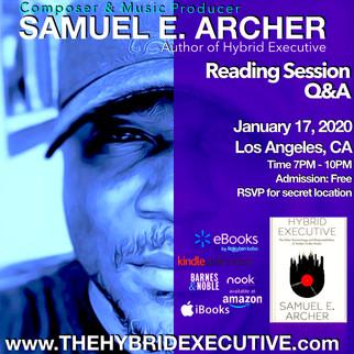 Samuel Archer Book Launch - Los Angeles, CA [Jan 17, 2020]