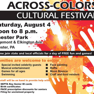 Across-Colors Cultural Festival: Chester Park, PA set for August 4, 2018