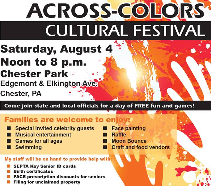Across-Colors Cultural Festival: Chester Park, PA set for August 4, 2018