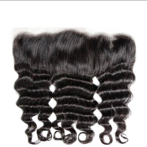 13x4 Indian Raw Wave | Malaysian Water Curl Frontals