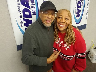 James Mtume stops by WDAS 105.3 FM with host, Patty Jackson