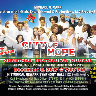 "MICHAEL CARR IN ASSOCIATION WITH INITIALS ENTERTAINMENT & PRODUCTIONS LLC PRODULY PRESENTS ""CITY"