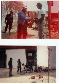 Paul DeSilva on set Crackdown Big City Blues
