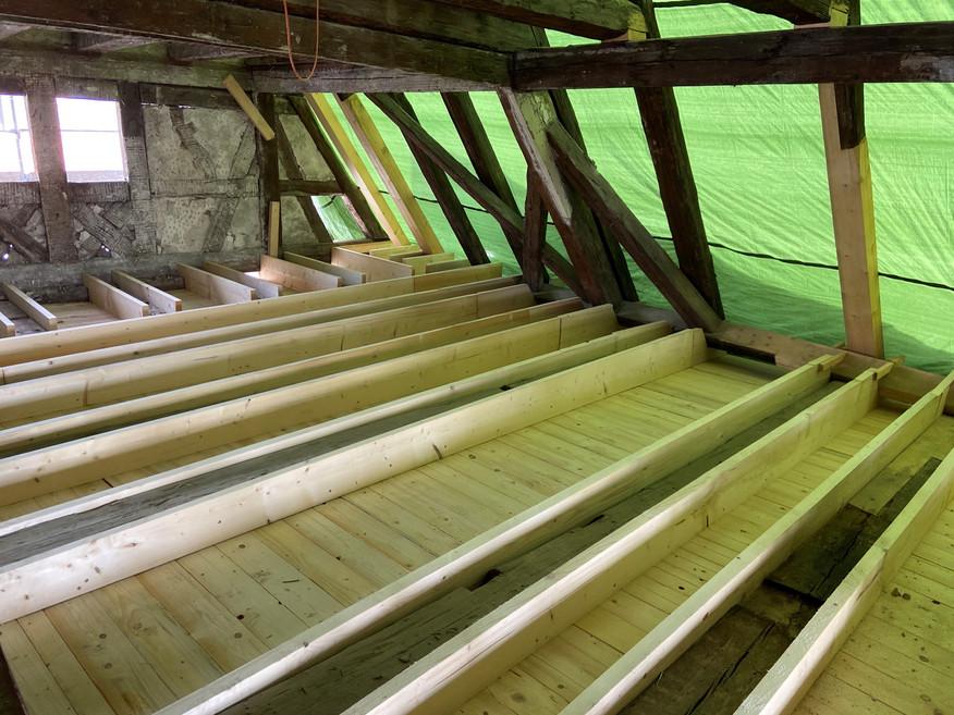 Schlafzimmer, momentaner Restaurierungszustand