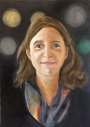 Portrait femme huile